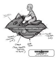 Concept Art Saturday: Bitsy's Bustup-Tank by DoubleCluepon