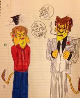 Heinrich insulting Johnny by AwesomeLatinoArtist