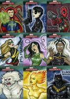 Marvel Sketch Cards-3 by feliciacano