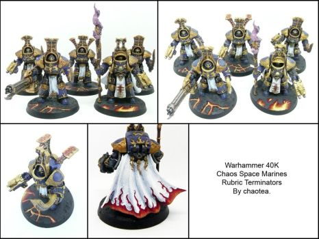 Rubric Terminators- Thousand Sons by chaotea