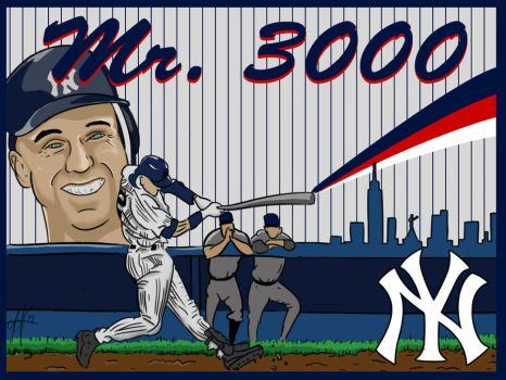 Jeter Mr.3000 Tribute Poster by bimbady