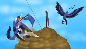 Landing On The Mountain ((slightly open rp?)) by Hawksfeathers97