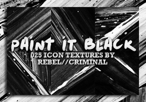 Paint It Black - Icon Textures by Rebel by rebelatlj