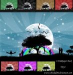 Vector wallpaper pack 8 Colors by whizkid86