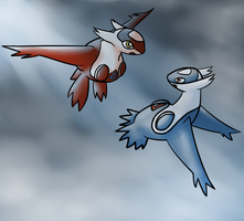 latias and latios by Veskler