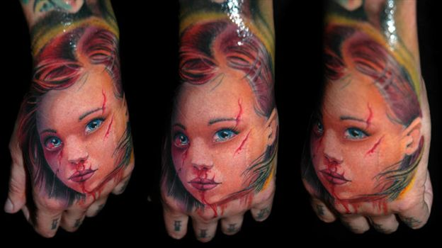 Dollface2 by redliontattoo