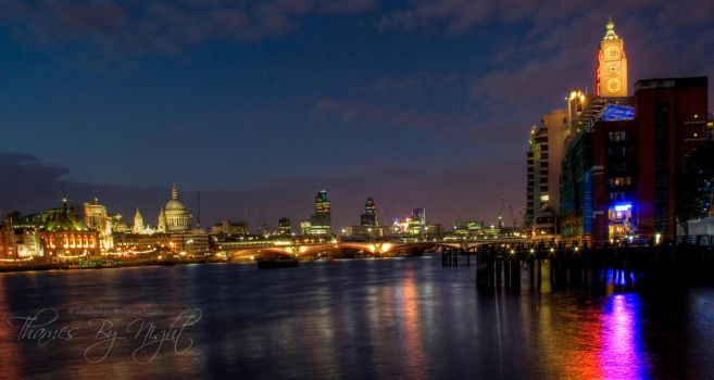 Thames by Night by eyedesign