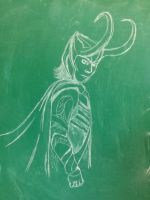 Chalk Loki by edwardscissorhands33