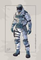 Snow Soldier Male 01 by the-a-line