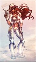 Steampunk Cowgirl COLOR by vest