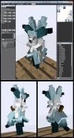 Minecraft Snow Sorceress Braixen Mob Model by FuzzyAcornIndustries