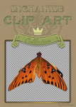 High Resolution Butterfly Clipart by Spiral-0ut