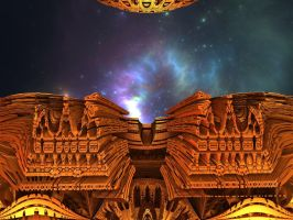 Balconies in the space by Jakeukalane