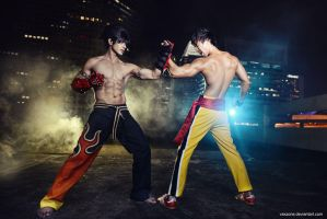 Tekken - Jin vs Law by vaxzone