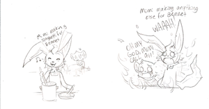 Mimi Can't Cook. by Princess-Hanners