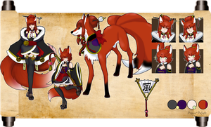 Red Fox full sheet for Sentrick by azume-adopts