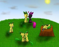 Amazing Leafeons xD by Nightforest