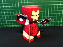 Iron Man Paper Toy by papertoyadventures