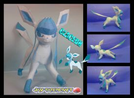 Glaceon papercraft by javierini