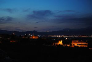 The village nocturne by Andriandreo