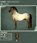 050 | WBS Gold Dust by angry-horse-for-life