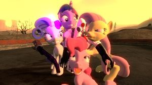 Combine Pyro meets the Pony Freaks by TheInvertedShadow