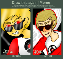 Draw this again: Dave Strider by qameboy