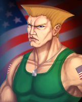 Guile Street Fighter by ArtDeepMind