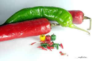 1-12 chillies by Snowfern