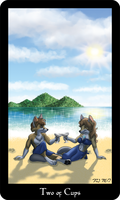 Vulpine Tarot - Two of Cups by Mabon-Tail