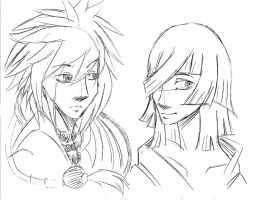 Scribbles:Natsume and Kaname by Rain-Strive