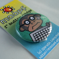 """Code Monkey"" Badge by moopf"