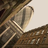 The Gherkin and the City by morettina