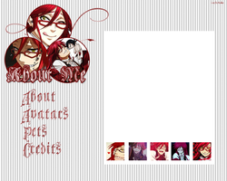 Grell Sutcliff (Layout for Neopets) by Miickye