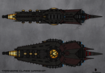 Transire Class Warship by TenebraesRising