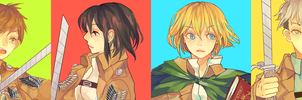 SNK BADGE SET by Sychandelic