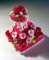 Miniature Valentine Cake by ChocolateDecadence