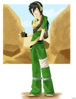 Avatar: older modern Toph by Tripower