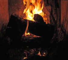 Fireplace Logs and Flames by TheStockWarehouse