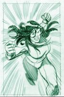 She-hulk cover rough by BroHawk