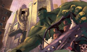 Wolvie vs Hulk (wip) by Batawp