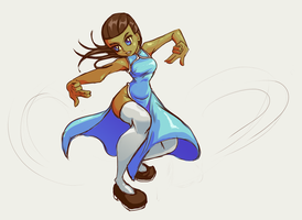 Blue Chinese Dress by CrypticManifestation