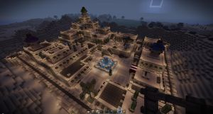 Desert Town Updated Night by oddworld90