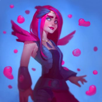 Pink Bubbles! Speed painting by SenRyuji