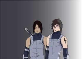 Me and my mate as Anbu ninja by Tomato-Field