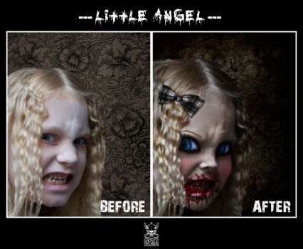 little angel_before-after by the-art-of-matth
