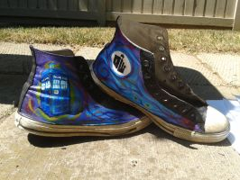 Tardis Chucks by DorianBasil
