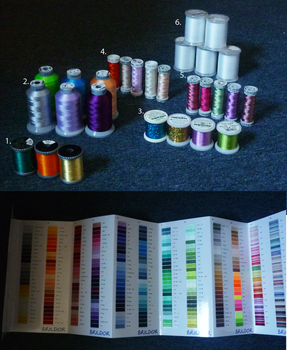 Embroidery threads and chart by goiku
