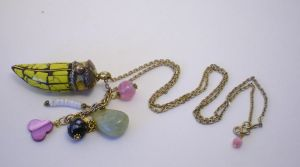 Eco Chic Necklace Yellow by RetroRevivalBoutique