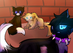 {Warrior Cats}Scourge,Sock,Ruby by HalfLight-Dimondcady
